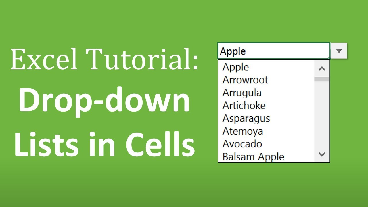 How to Create Drop Down Lists in Cells - The Complete Excel Guide