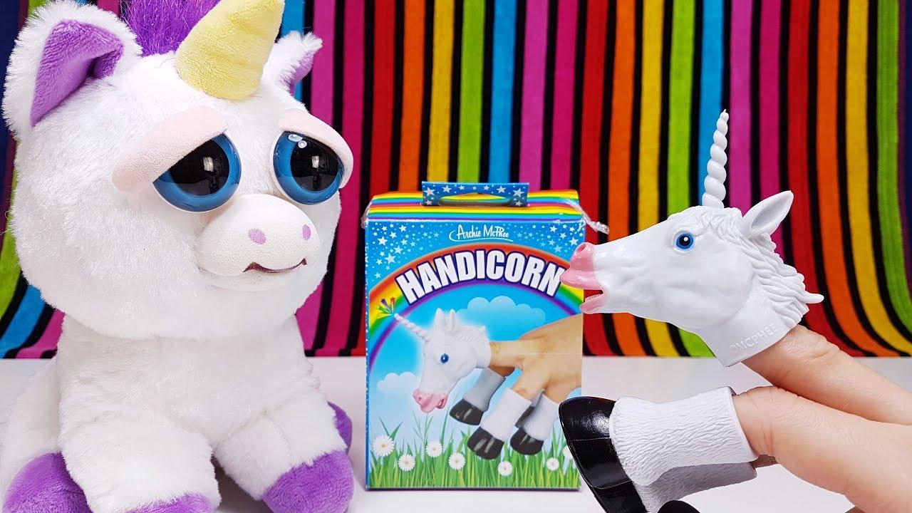 Unicorn Toys Handicorn Vs Feisty Pet Funny Toy Film For Kids