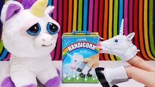 Unicorn Toys 🦄 Handicorn VS Feisty Pet 🌈 Funny Toy Film for Kids
