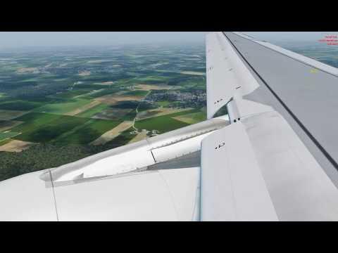P3D v4 - A320 Swiss Landing at CDG