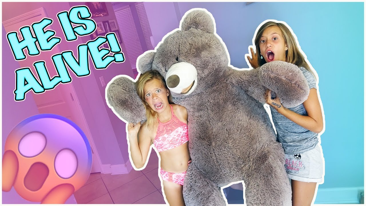 OUR GIANT TEDDY BEAR IS ALIVE! | IS HE NAUGHTY OR NICE?!