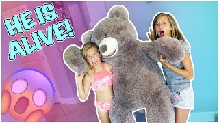 GIANT TEDDY BEAR COMES TO LIFE! | IS HE NAUGHTY OR NICE?!