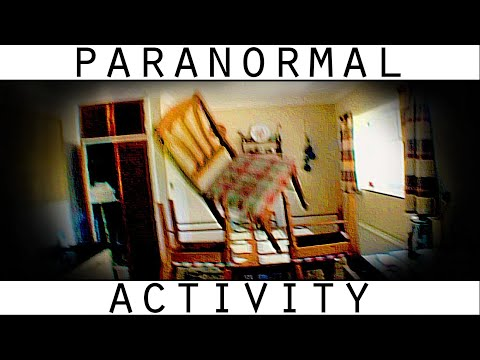 Poltergeist Activity Caught on Tape. Paranormal Entity Caught Stacking Chairs. poster