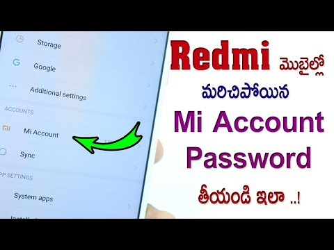 How To Reset MI Account Password | UNLOCK MI ACCOUNT FOR ALL XIAOMI REDMI DEVICES | 2018 TELUGU 😎