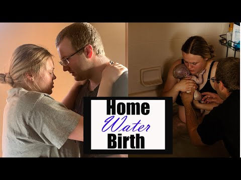 Natural Home Water Birth VLOG l The Bradley Method