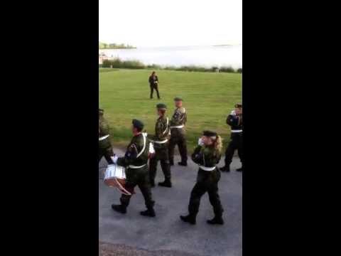 Hjemmeværnets musik og tamburkorps på Nysted havn 2013