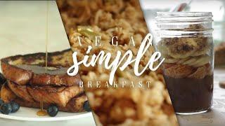 Simple Vegan Breakfast Ideas // 3 Sweet Breakfast Recipes