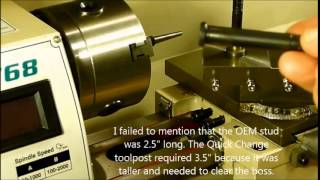 installing an lms quick change tool post on a grizzly g0768