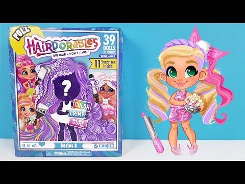 КУКЛЫ HAIRDORABLES 3 СЕРИЯ C шикарными прическами! Игрушки НЕ ХУЖЕ LOL Dolls Surprise Unboxing