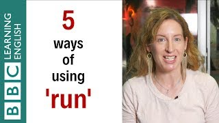 5 ways of using 'run' - English In A Minute