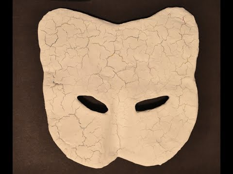Homemade Mask: Paper Mache Mask Step Four Gesso 10 29 18