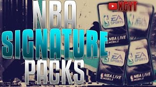 THREE 100K ELITE PULLS!! SIGNATURE PACK OPENING | NBA Live Mobile 16