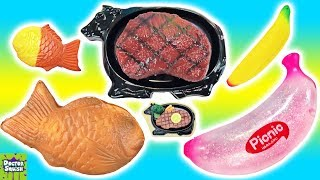 Cutting Open Big Versus Tiny Squishy Toys! Squishy Steak! Doctor Squish