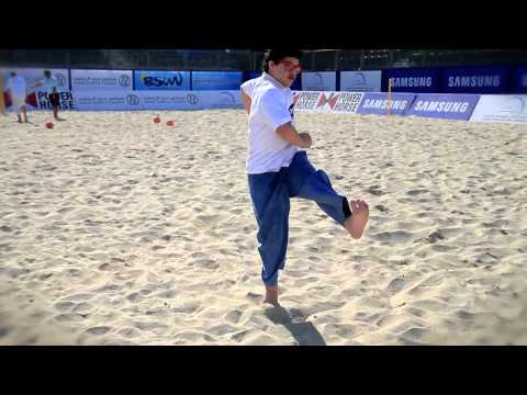 Samsung and Al Noor Training Centre The Beach Soccer Foundation Clinic 2014