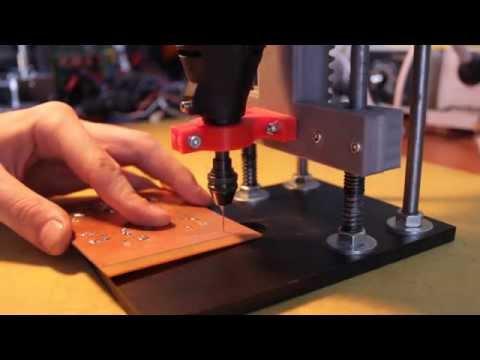 Drill press for Dremel - drilling PCB