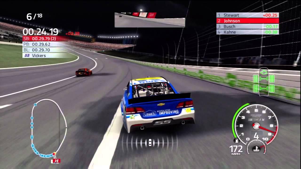 NASCAR THE GAME 14 : NASCAR 2014 KANSAS NIGHT - YouTube
