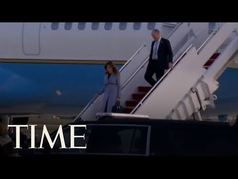 Melania Trump's Plane Was Forced To Return To Washington After Smoke Filled The Cabin | TIME