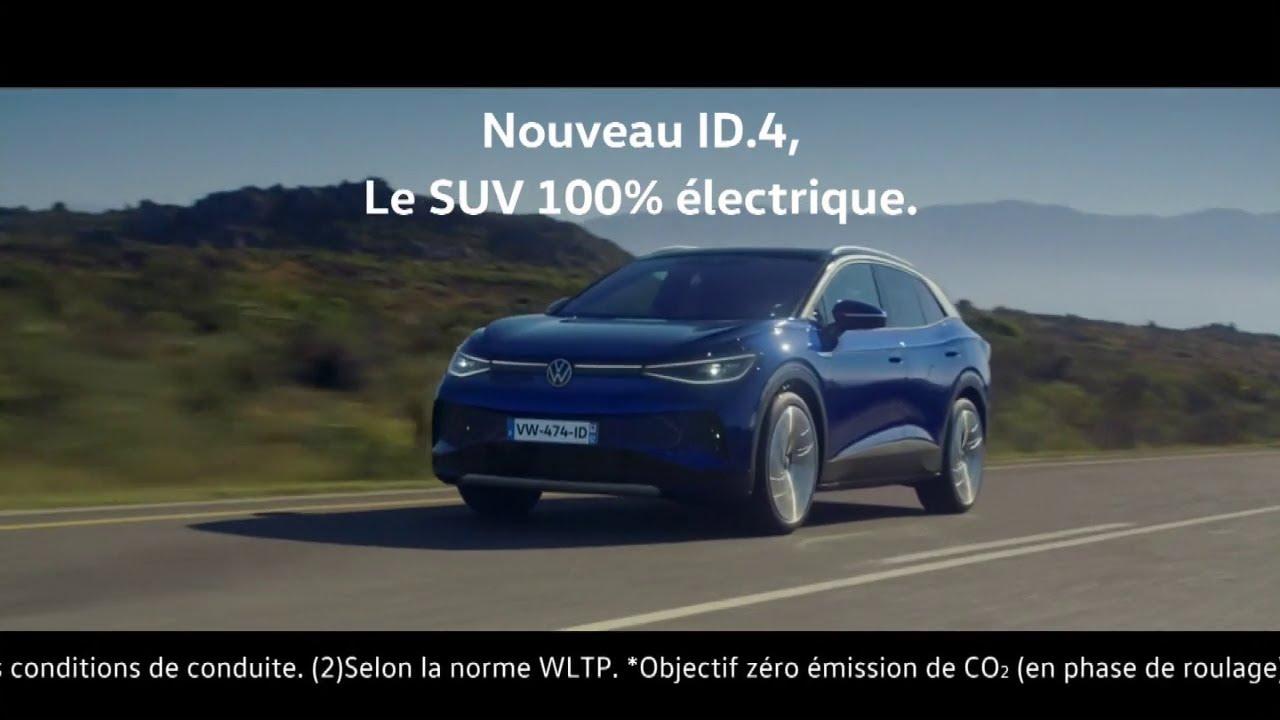 """Musique de la pub Nouveau ID.4 Volkswagen – le SUV 100% électrique """"rien ne vous retient""""  2021"""