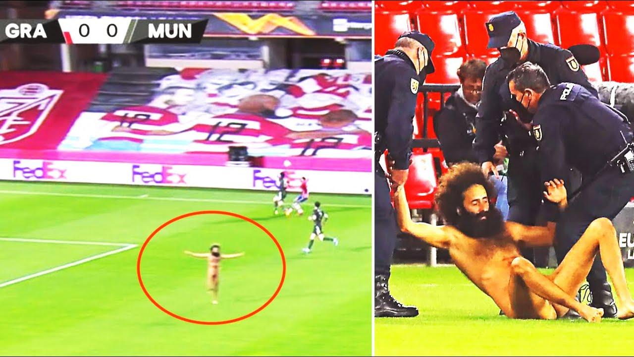 ЧТО ЗА ЖЕСТЬ?! ГОЛЫЙ БОЛЕЛЬЩИК ВОРВАЛСЯ  НА МАТЧ МЮ И ГРАНАДЫ! Гранада 0:2 Манчестер Юнайтед