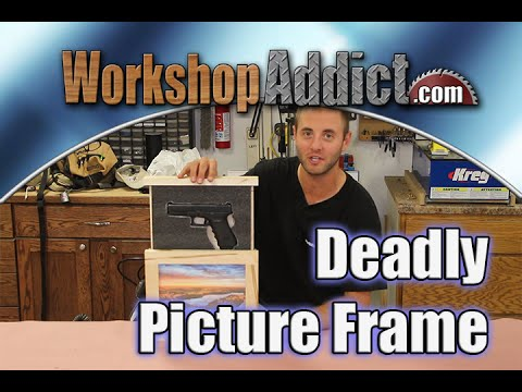Build A Picture Frame To Hide A Gun With Plans Youtube