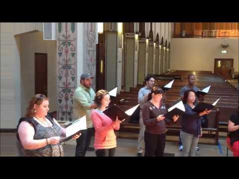 Choral Arts June 12, 2013 rehearsal, Richte mich, Gott  - Felix Mendelssohn
