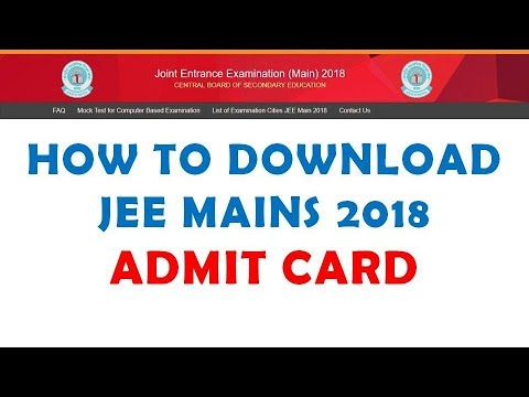 How to download JEE MAINS admit card 2018