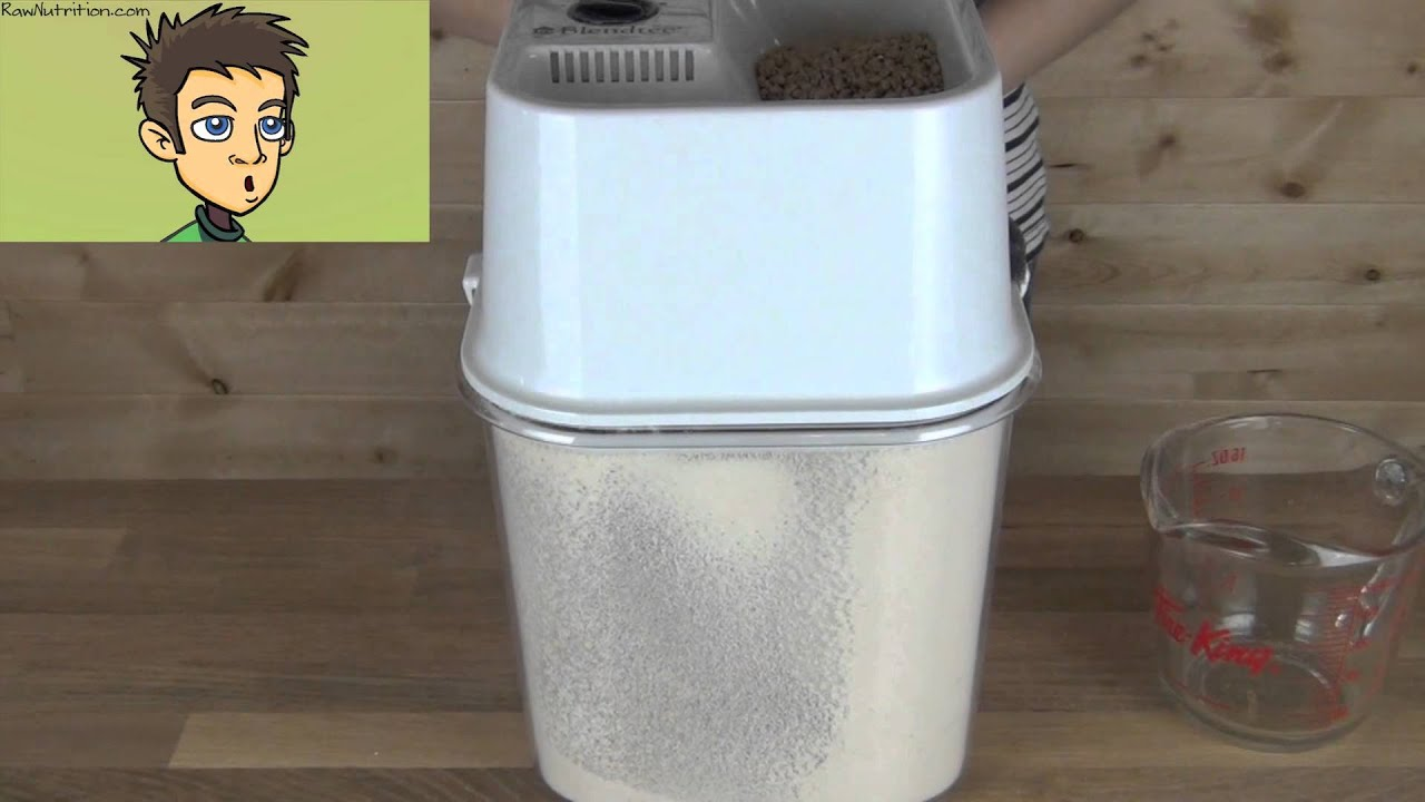 blendtec kitchen mill utility cart demonstration in the raw nutrition