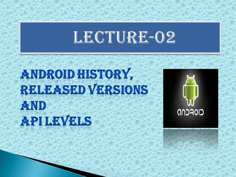 Lecture 02 Android  History, Released Versions and API Levels