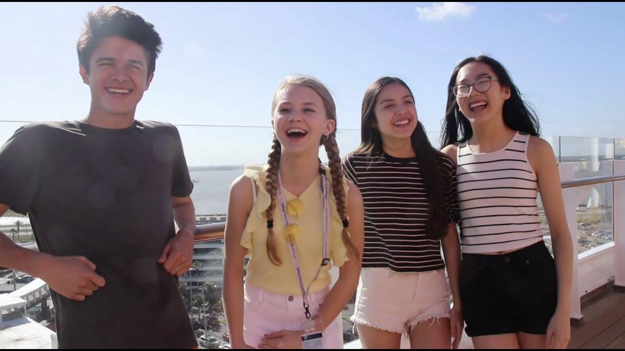 Madison Hu And Olivia Rodrigo On The Disney Cruise Line Radio Disney Youtube