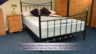 Time Living Oban Black And Chrome Metal Bed Frame