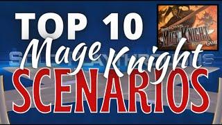 Solo Playthroughs' Top 10 Scenarios in Mage Knight!
