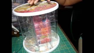 Dollar Tree DIY Craft Station with Faux Acrylic Bins
