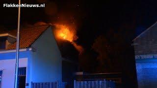 Gebouwbrand Oudelandsedijk Sommelsdijk
