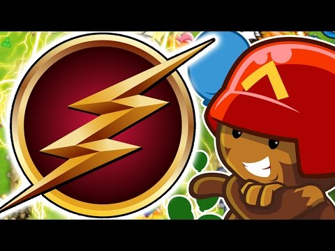 MONKEY FLASH CHALLENGE ! - BLOONS TOWER DEFENSE 5