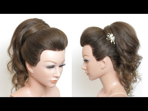 New High Prom Ponytail Hairstyle With Puff For Long Medium Hair