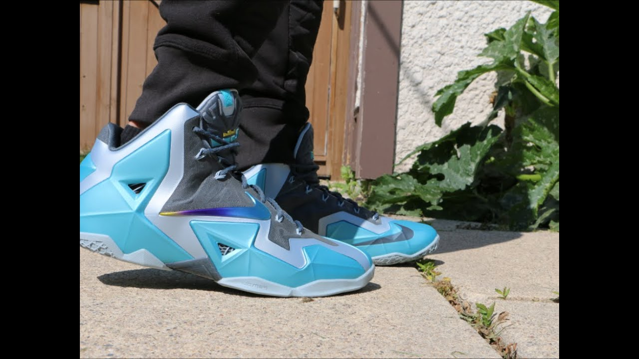 f36c672b Nike LeBron 11 Gamma Blue - On Foot - YouTube