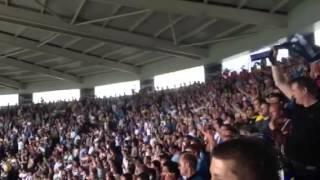Leeds United fans singing
