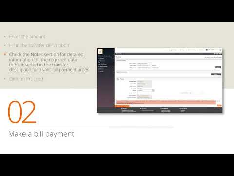 Tutorial - Bill Payments through Internet Banking - English