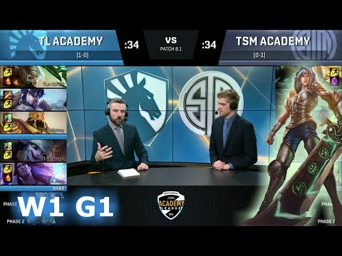 Liquid Academy vs TSM Academy | Week 1 of S8 NA Academy League Spring 2018 | TLA vs TSMA
