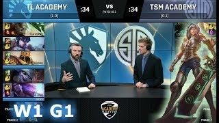 Liquid Academy vs TSM Academy | Week 1 of S8 NA Academy League Spring 2018 | TLA vs TSMA