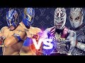 Rey Mysterio and Sin Cara (Mistico) Vs. Kalisto and Sin Cara (Hunico)