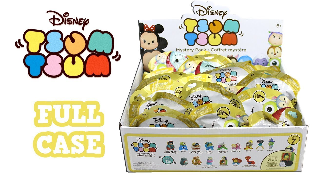 disney tsum tsum mystery pack series 7 blind bag full case unboxing opening entire case youtube. Black Bedroom Furniture Sets. Home Design Ideas