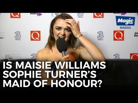 Is Maisie Williams Sophie Turner&39;s Maid of Honour?  Magic Radio