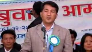 Kumar Lingden Mirak's Speech On Mission DS Of Limbuwan At Pakhribas Dhankuta 2.flv