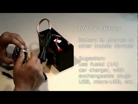 Producing 12V mobile electricity with PV solar panels