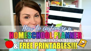 HOW TO CUSTOMIZE A HOMESCHOOL PLANNER | THE HAPPY PLANNER