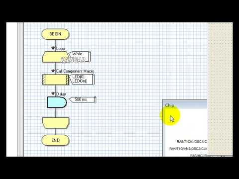 FlowCode Tutorial # 2  LED Blinck With Pic16f676