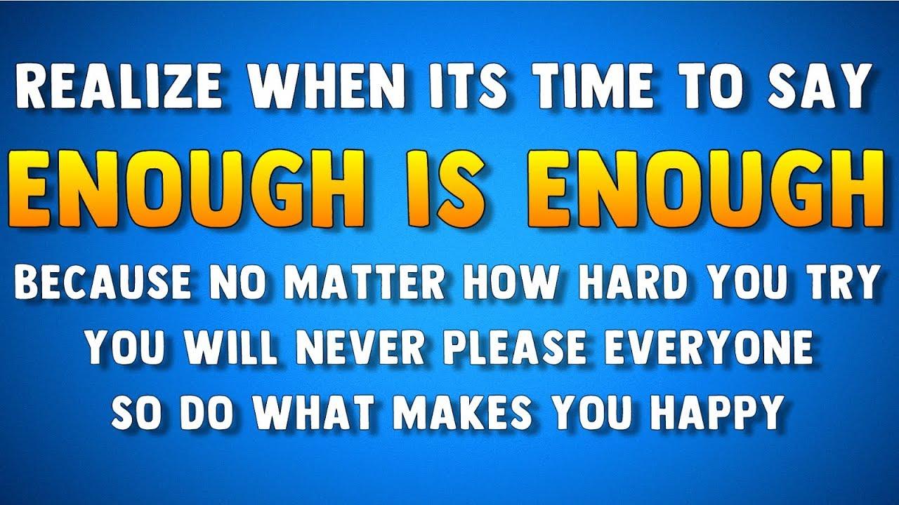enough is enough youtube