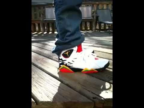 outlet store 6c6fa c27ea Air Jordan VII Premio Bin 7 Shoe Review On Feet with alexthagr8 - YouTube