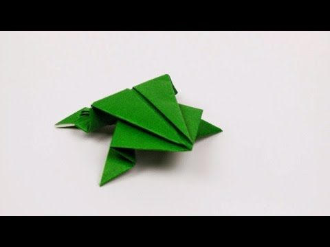Diy Cara Membuat Kodok Lompat Dari Origami Youtube